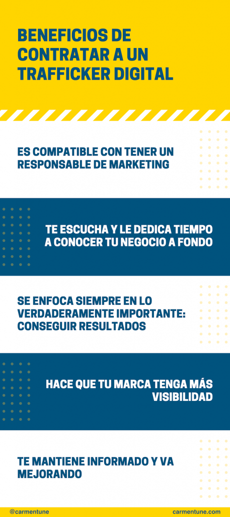 beneficios contratar trafficker digital