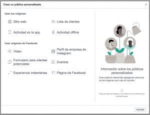crear publico personalizado facebook