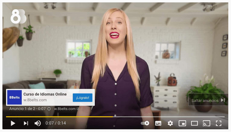 ejemplo publicidad youtube ads