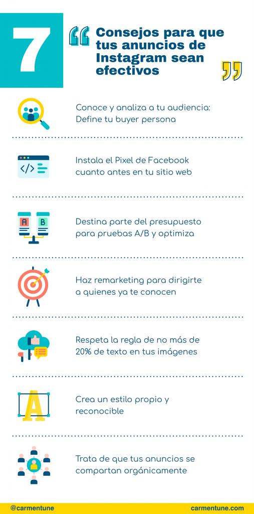infografia consejos anuncios efectivos instagram