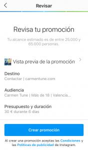 promocionar en instagram